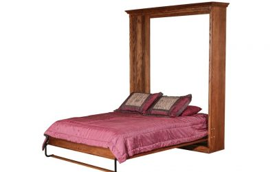 Mission Open Queen Murphy Bed: 73W X 92H X 15D/ Bed Extends 89 From Wall